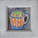 Rebecca Pyle The Royal Cup Beeswax crayon on paper