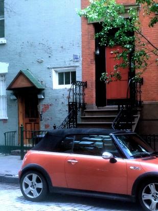 Near Jane Street, I, Tangerine MiniCooper