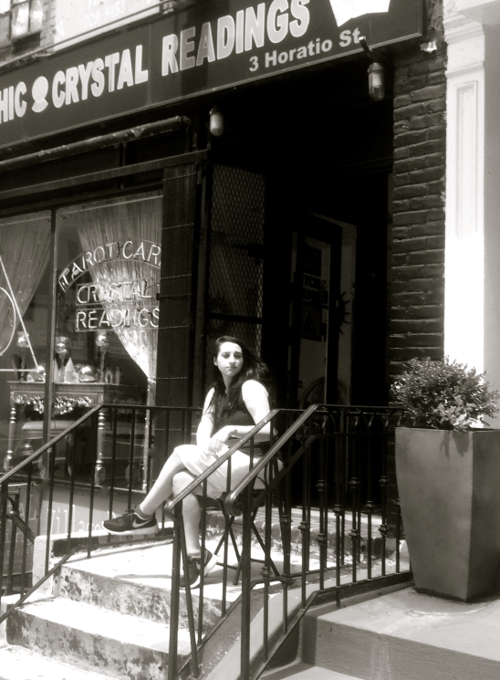 Near Jane Street--Psychic & Crystal Readings, b&w