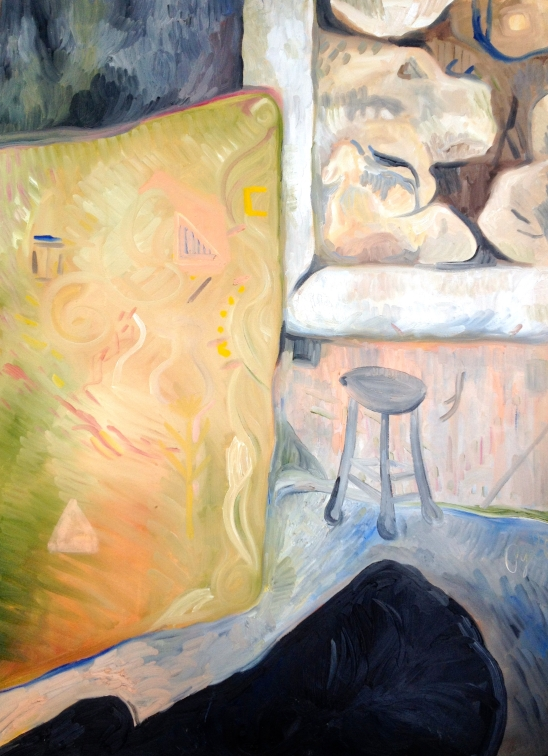 The Dentist's Office---the Window Full of Great Boulders--Rebecca Pyle