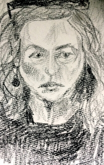 Rebecca Pyle (self portrait, from reflection in computer screen)
