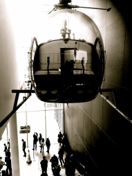 The Helicopter in the Art Museum, b&w =