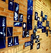 Wall of Meditation in Blue - Downen