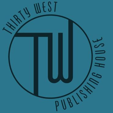 Thirty West Publishing House logo, blue version