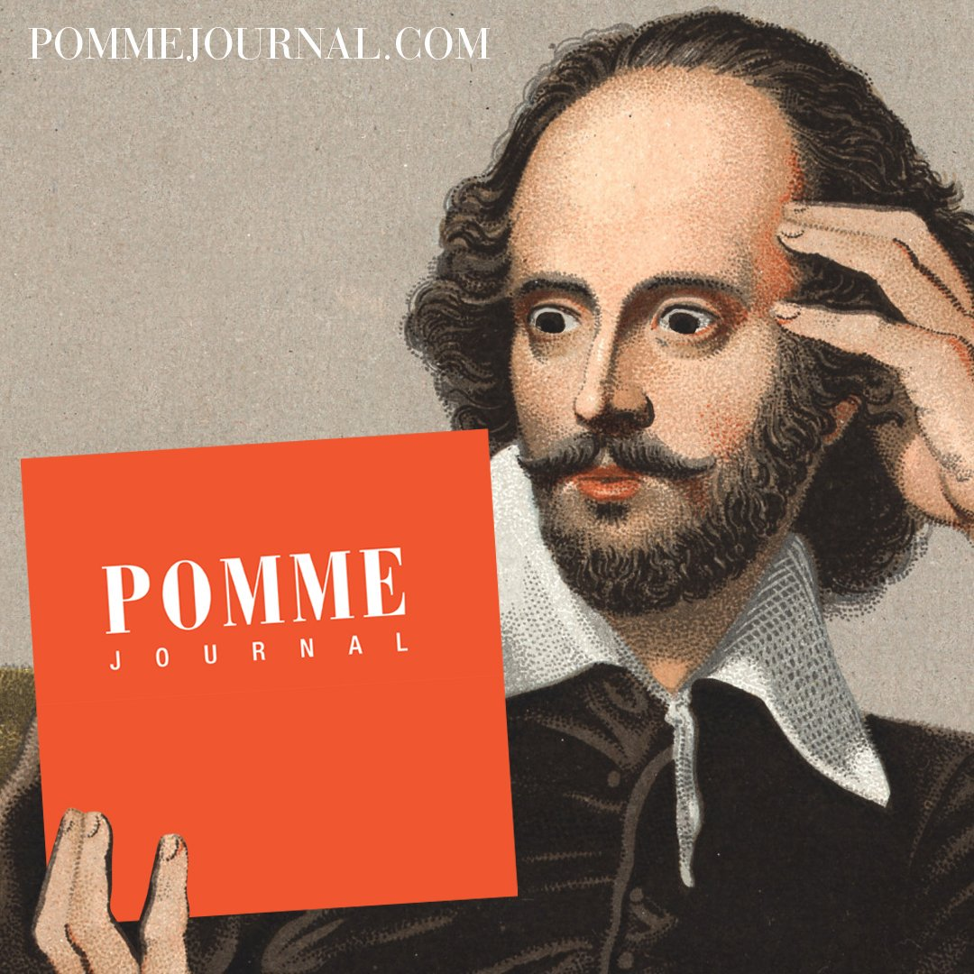 Pomme lit journal (Shakespeare, reading)