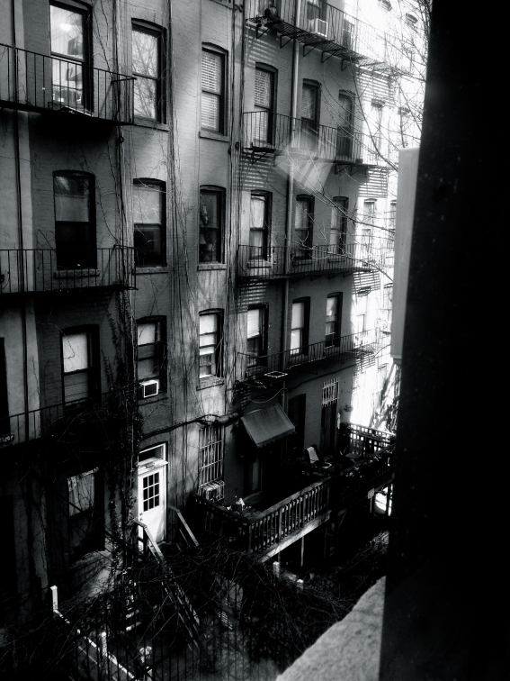 Looking out the Window of the Hotel, Manhattan