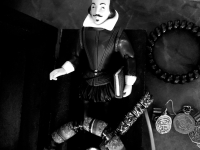The Small Plastic Figure of Shakespeare, Jewelry, b&w
